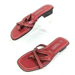 Montego Bay Club Thong Sandals Womens 6 Red